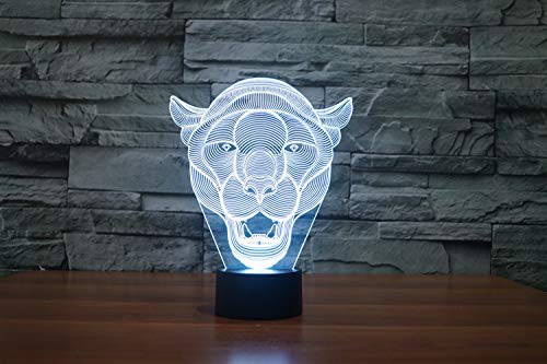 3d Nachtlicht Lampe,Dekorative Nachtlicht Dekoration Kiddie Kinder Geschenk Löwin 3D Lampe Zimmer Schlafzimmer