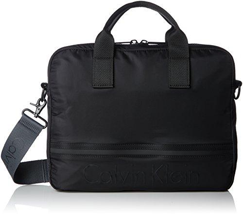 Calvin Klein Matthew 2.0 Laptop Bag, Sacs pour ordinateur portable homme, Noir (Black), 8x28x37 cm (B x H T)