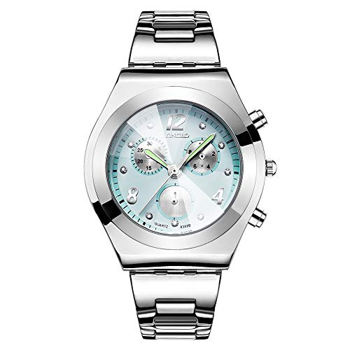 OUTAI Damenuhr einfache Uhr Nachtlicht Zeiger gefälschte Dreischeiben-dekorative Damenuhr Geschenk