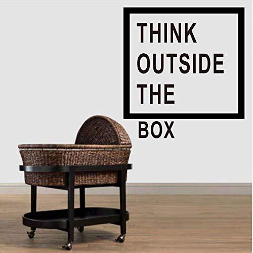 Motivation Büro Dekoration Denken Außerhalb Der Box Zitate Wandtattoo Art Decor Home Wand Dekor Aufkleber Cm ()