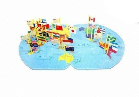 Shy shy - World Map - Knowledge of The World International Flage Educational World map for Schoolers Jigsaw Puzzle|30 Country Flags|Best Puzzle to gain Knowledge of World