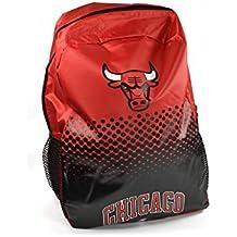 Chicago Bulls de la NBA de baloncesto mochila diseño red desvanecimiento negro