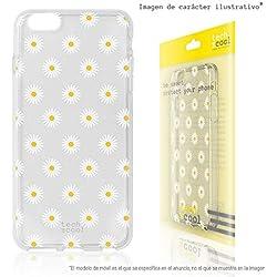 Funnytech® Funda Silicona para Samsung Galaxy A40 [Gel Silicona Flexible, Diseño Exclusivo] Primavera Mini-Margaritas Transparente