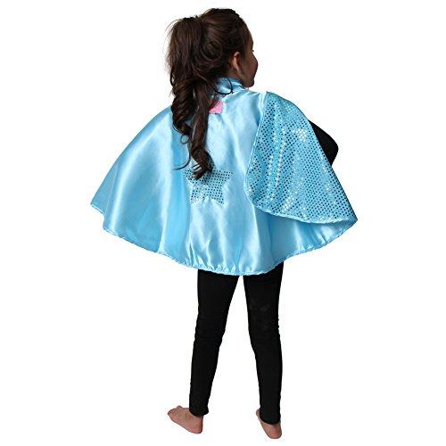 Blue Kostüm Reversible - Light Blue Reversible Sparkle Star Cape by Fairytales and Magic Spells