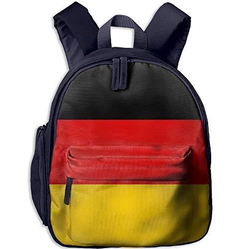 Funny Schoolbag Backpack Flag of Germany Kid and Toddler Student Backpack School Bag Super Bookbag