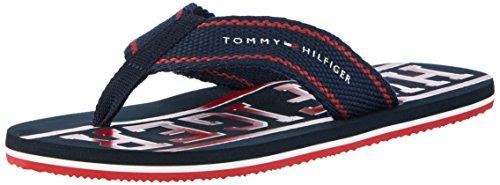 Tommy Hilfiger Herren F2285LOYD 13D Zehentrenner, Blau (Midnight/Tango Red 901), 43 EU