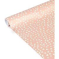 Clairefontaine 223862C Tiny Rolls - Rollo de papel de regalo (5 m x 35 cm, 80 g), diseño de corazones