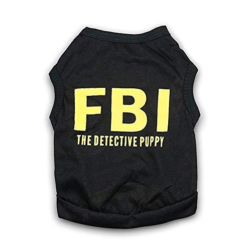 WESEEDOO Hundekleidung Haustier Kostüm Hund T-Shirt Fancy Dress FBI Polizei Fit Für Klein Mittel - Polizei Hunde Haustier Kostüm