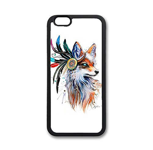 Coque silicone BUMPER souple IPHONE 4/4s - Fox renard loup animaux CASE tpu DESIGN + Film de protection INCLUS 1