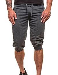 Pantalones Hombre,❤LMMVP❤Hombres Casuales Jogging Dance Ropa Deportiva Holgados Harem Pantalones Pantalón de chándal (M,…