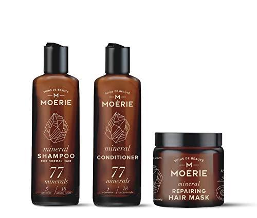 BEST Natürlich Haar Shampoo (250ml) und Conditioner (250ml) mit Haarmaske für Damen! Ohne Sulfat - Für Strapaziertes Haar und Trockene Kopfhaut - Anti-Schuppen-Behandlung - Volumenbildung & Verdickung - Fragrance Free Shampoo Conditioner