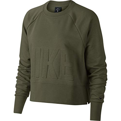 Nike Versa Sweatshirt Damen Sweat, Olive Canvas/Black, XL -