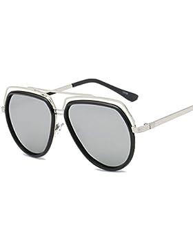 Gafas de sol Unisex Metal Frame Color Film Mirror Fashion Colorful Polarized Sunglasses ( Color : C )