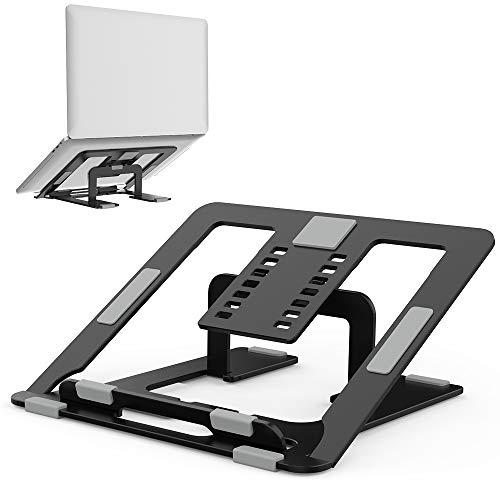 """TATE GUARD Multi-Winkel Einstellbar Aluminium Laptopständer (10""""-17.3""""), Faltbarer Halter, belüftet Leicht & Einstellbar Ergonomisch Notebook-Ständer, kompatibel mit M'acBook p'ro/PC/Table"""