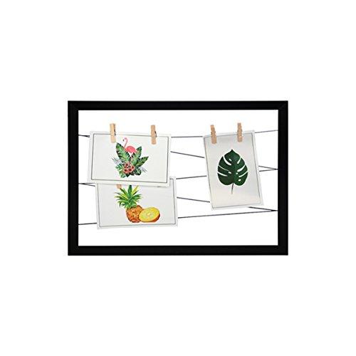 Dabuty Online, S.L. Marco para Pared Decoracion con Cuerdas para Colgar Fotos. Color Negro. Medidas 30x40cm.