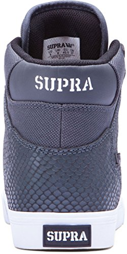 Supra Vaider, Baskets mode homme Grey / snake - white