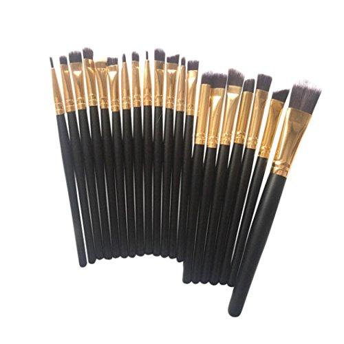 ESAILQ 20 pcs Sets de pinceaux de maquillage de la Fondation Kit Ombres à paupières Eyeliner Lip outil Pinceau (B)