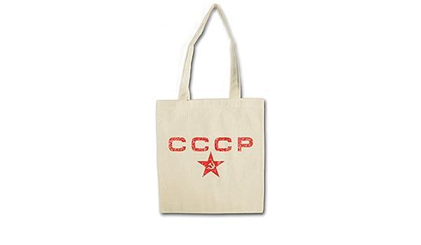 Soviet Union Socialisme Communisme UDSSR Army Socialism Union sovi/étique Communism DDR Putin Urban Backwoods CCCP Red Star R/éutilisable Pochette Sac De Courses en Cotong