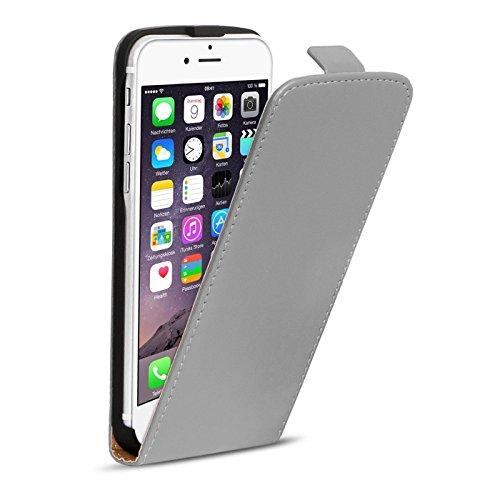 Premium Schutzhülle für - iPhone 6 Plus, iPhone 6s Plus - Hülle Flip Case Wallet Tasche aus PU Leder Farbe: Rosa Silber