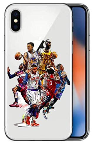 �r iPhone X/iPhone XS Lebron James Kobe Bryant James Harden Carmelo Anthony Russell Westbrook Stephen Curry John Wall Best NBA Players Soft Silikon ()