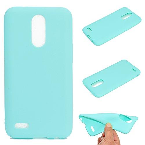 HopMore Funda LG K10 2017 Silicona Antigolpes Color Caramelo Mate Gracioso TPU Gel Carcasa LG K10 2017 Resistente Ultrafina Slim Case Cover Caso Protección Cover - Azul Marino