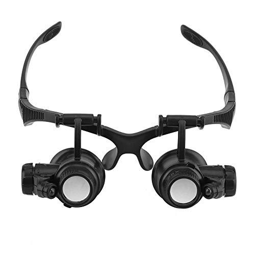 Kopf Tragen Lupe, Portable Eye Jewelry Uhr Reparatur 10X 15X 20X 25X Vergrößerungsgläser Lupe mit Led leuchten