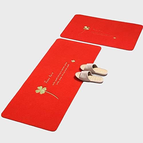 YLTDKüche Bodenmatte Splitter rutschfeste ölbeständige Bodenmatte Badezimmer Badezimmertür saugfähige Türmatte Schlafzimmer Teppichteppich niederflor teppichbrücke Fitness Teppich