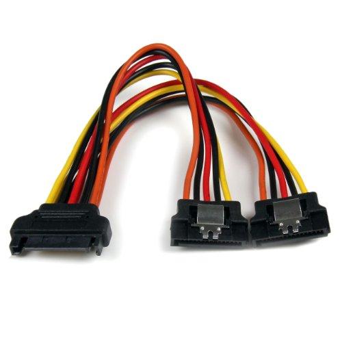 StarTech.com Câble répartiteur en Y d'alimentation SATA vers 2x SATA avec verrouillage - 15 cm (PYO2LSATA)
