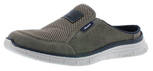 Rieker B4879 Herren Sneaker, Clogs, Pantoletten mit Leichter PU-Sohle grau (Cement/dust/Navy / 40), EU 41