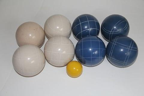 Premium Quality EPCO Tournament Bocce Set - 107mm Blue and White Bocce Balls ...