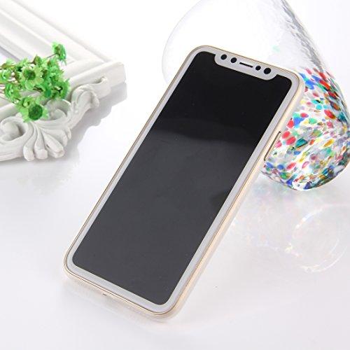 Housse ultra mince iPhone X [0,3 mm], Fone-Stuff® - Housse rigide mince super fine - Or [cas le plus mince des mondes, meilleur vendeur] White