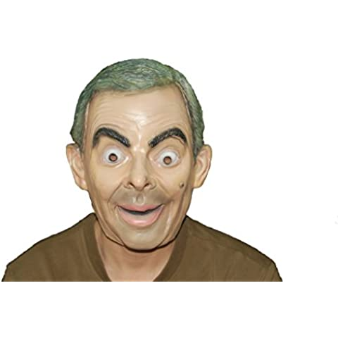 Mr Bean Person Latex Face Mask Actor's Full Headgear Christmas Halloween/Cosplay/Easter