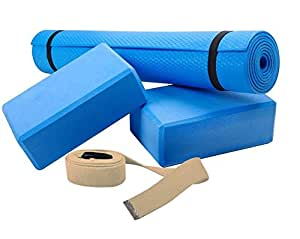 ScSPORTS Ensemble de yoga avec tapis, 2 blocs et une sangle