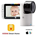 KODAK Cherish C525 Video-Babyphone - Neigende/Schwenkende/Zoomende Babykamera, 5-Zoll-HD-Babymonitor, One-Touch-Audiomonitor, mobile und WLAN-App