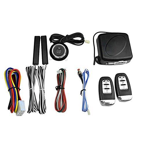 Weedon Alarmsystem mit Zwei Fernbedienungen, Auto-Alarmanlage, Zwei-Wege-Fernstart Keyless Entry Auto-Alarmanlage Fahrzeugsicherheit Pager Auto-Alarmanlage