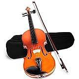 TrAdE shop Traesio- Violino da Studio 4/4 con Custodia Rigida Archetto PECE Ponticello E Corde