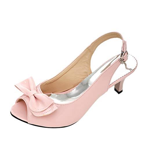 WUDUBE Chaussures d'étéMode Femmes Chaussures à Talons Hauts Sandales à Boucle de Ceintu
