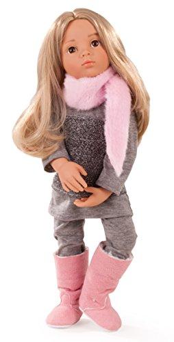 Kidz Emily geht ins Kino Puppe - 50 cm große Multigelenk-Stehpuppe mit blonden Haaren, braunen Augen - 6-teiliges Set ()