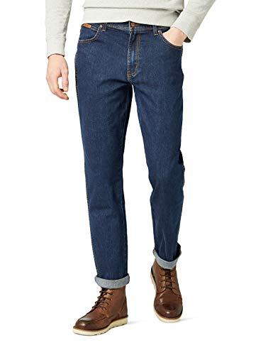 Wrangler Herren Texas  Jeans, Blau (DARKSTONE, Mild blue), 46W / 34L - Mens Stone-washed Baumwoll-denim