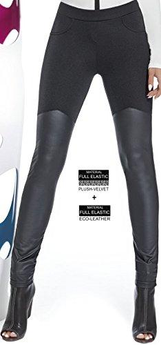 Bas Bleu - Leggings Femme Noir