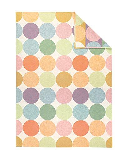 Kuscheldecke 100% Baumwolle IBENA Venedig 2026 / Tagedecke bunt pastell / Bio- Baumwolldecke 140x200cm / angenehm leichte Baumwolldecke in einer hochwertigen Qualität aus kontrolliert biologischen Anbau / Zertifiziert nach Gots / sommerlich frinsche Farbgebung