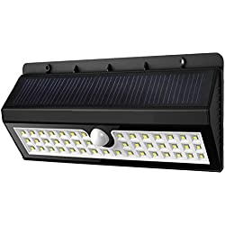 Outera - 44 LED Foco Exterior con 3 Modo de Iluminación, Lámpara Energía Solar con Sensor Movimiento para Jardin Patio
