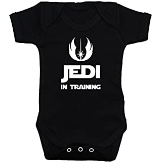 Acce Products Jedi-Baby-Body/Strampelanzug/T-Shirt/Weste Star Wars, Schwarz, 0-12Monate Gr. 6-12 Monate, Schwarz