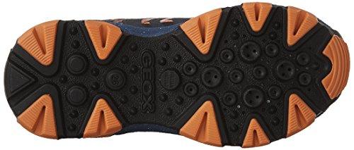 Geox J Magnetar A, Sneakers Basses Garçon Bleu (Navy/Orangec0820)