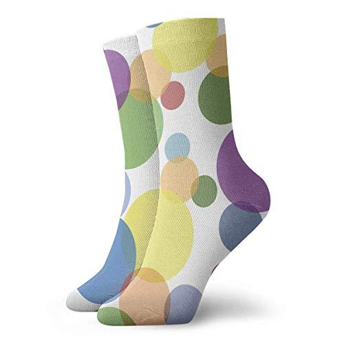 Kotdeqay Ankle Short Sports Socks Cool Polka Dot Unisex Non Slip Casual Dress Boat Stocking for Men Women Running -