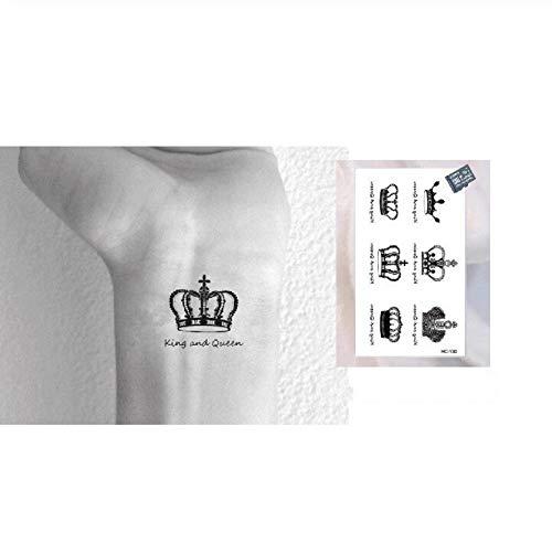 LFVGTUIOP Wasserdicht Temporäre Tätowierung Aufkleber Royal Crowns King Queen Designs Körperkunst für Frau Mann Make Up (Royal Crown Tattoo)