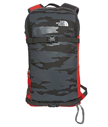 North Face Slackpack 20 - Mochila unisex, color gris / rojo, talla única