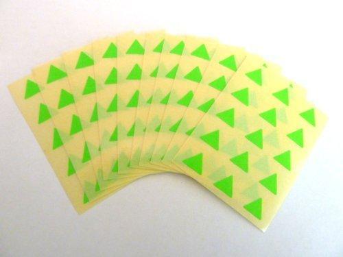 150 Etiquetas , 10mm Triángulo , Verde Lima , Código De color Pegatinas , autoadhesivo Adhesivo de color etiquetas