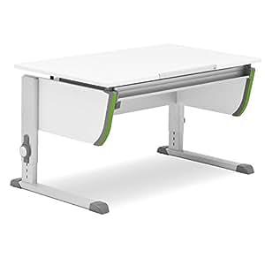 Moll Schreibtisch Joker | weiß | Höhenverstellbar von 53- 82 cm | Kinderschreibtisch