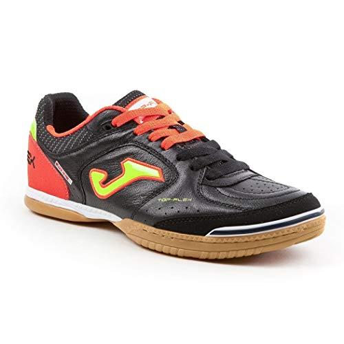 Joma Top Flex 701 Nera/Arancio Indoor Sala - Scarpe Calccetto Uomo - Men's Futsal Shoes - TOPS.701.IN (40.5)